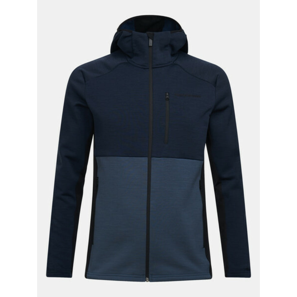 Peak Performance Vertical Mid Hooded Jacket - Blue Shadow