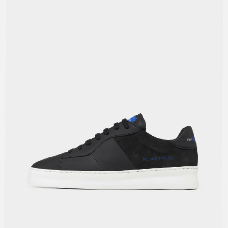 Filling Pieces Plain Court 683 Trainers - Black/Blue
