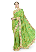 Load image into Gallery viewer, LYRIL GREEN SAREE - Chahat