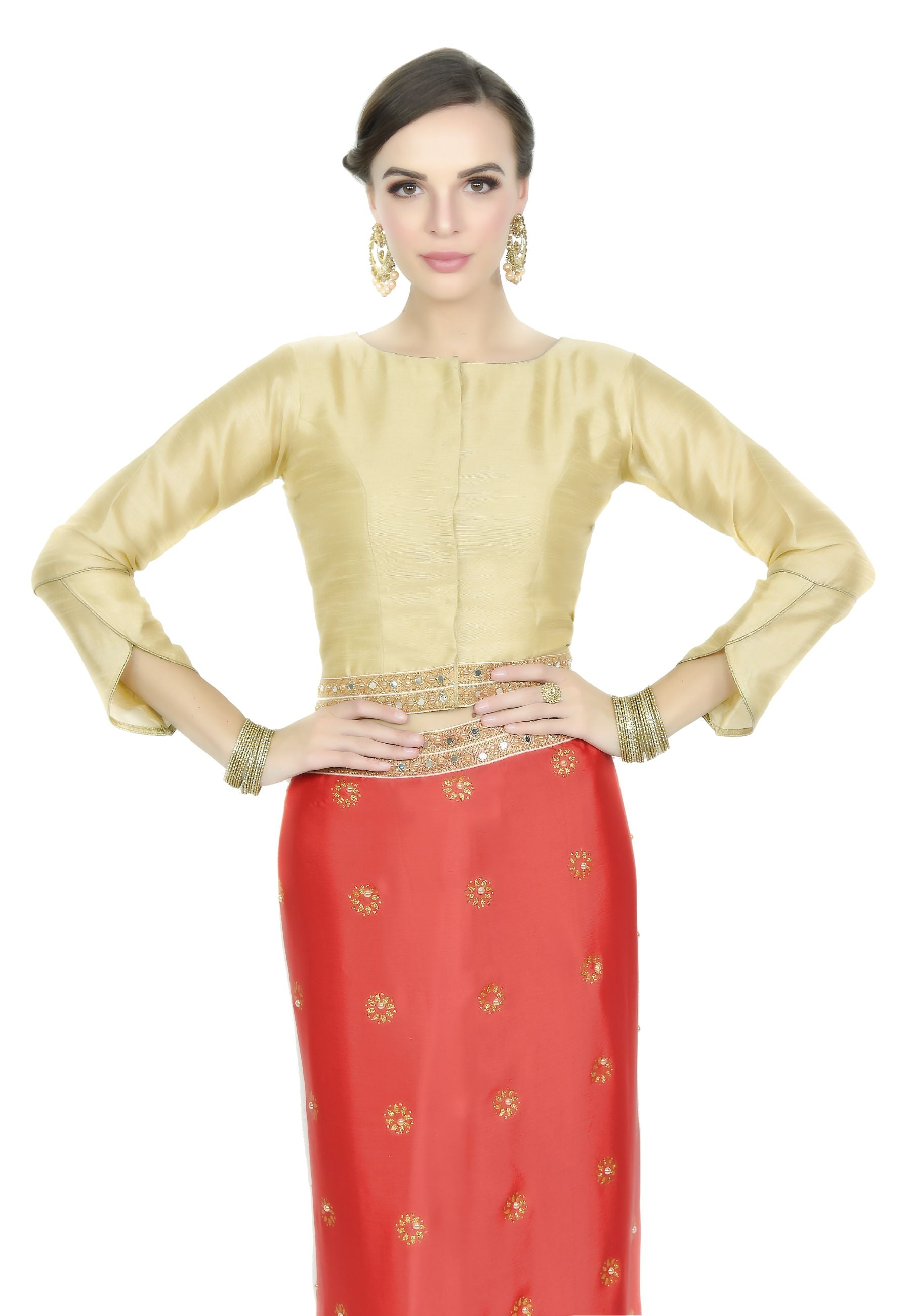 Red and Gold Silk Saree - Chahat