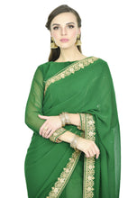 Load image into Gallery viewer, DARK GREEN SAREE - Chahat