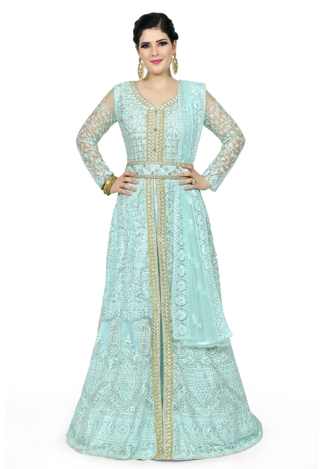 Light Teal Gown - Chahat