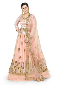PEACHY ORANGE LEHENGA - Chahat