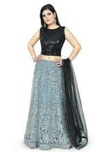 Load image into Gallery viewer, NOIR LEHENGA - Chahat
