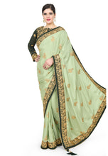 Load image into Gallery viewer, Pista Green Zari Saree - Chahat