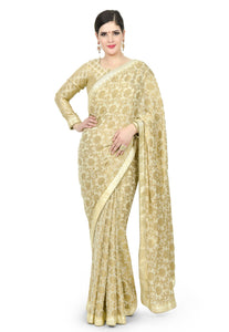 CREAM SAREE - Chahat