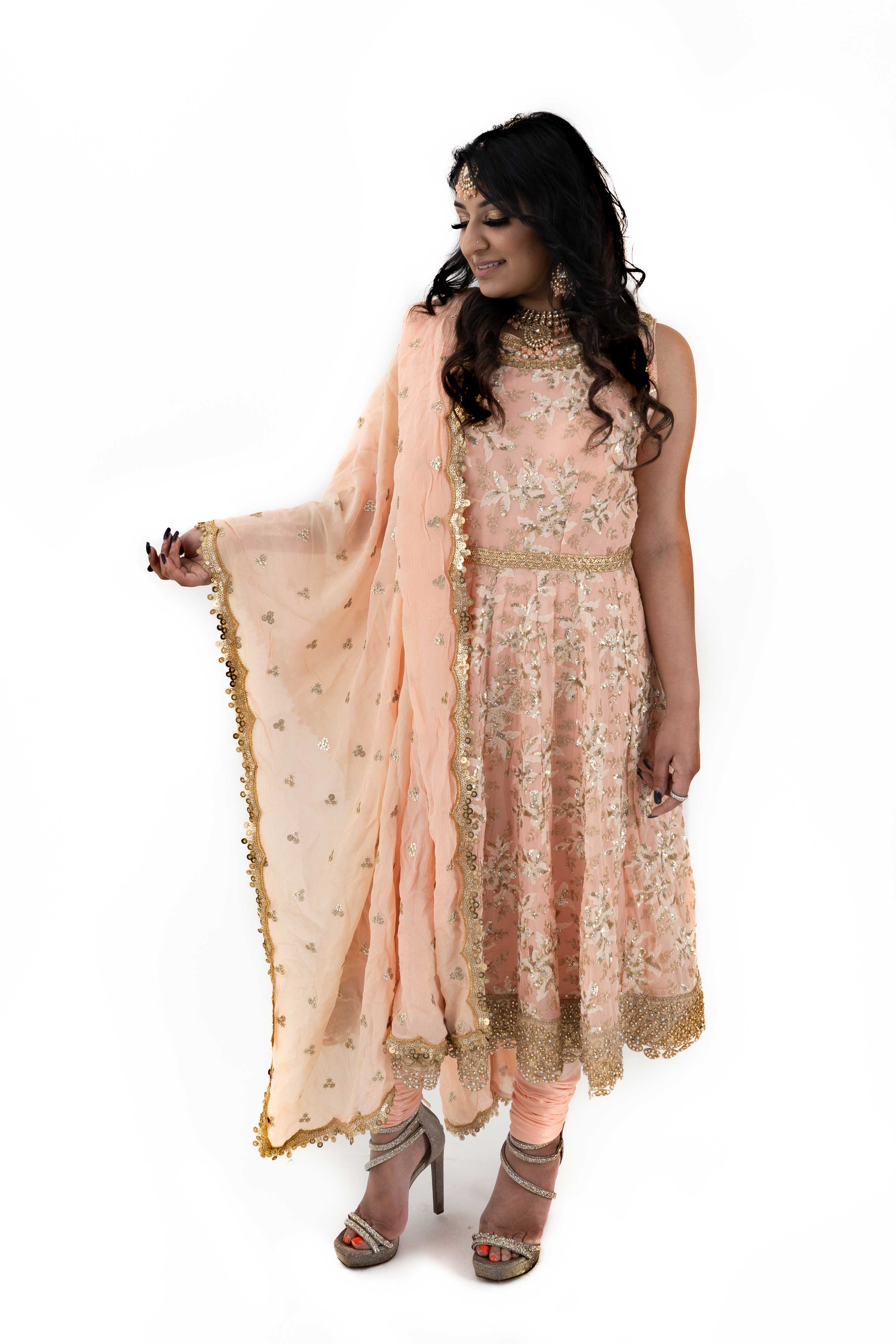 Peach Anarkali Suit - Chahat