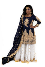 Load image into Gallery viewer, Navy Blue Gharara - Chahat