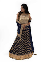 Load image into Gallery viewer, Navy Blue Lehenga
