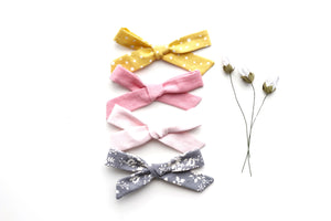 School Girl Bow // Baby Pink - Knots and Dots