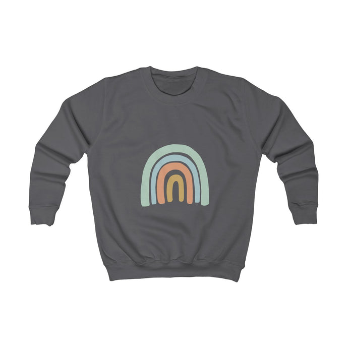 Kids Blue Rainbow Sweatshirt - Knots and Dots