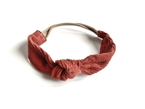 Knotted Headband // Brick Corduroy