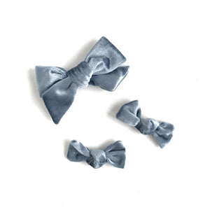 Velvet Bow // Ice Blue - Knots and Dots
