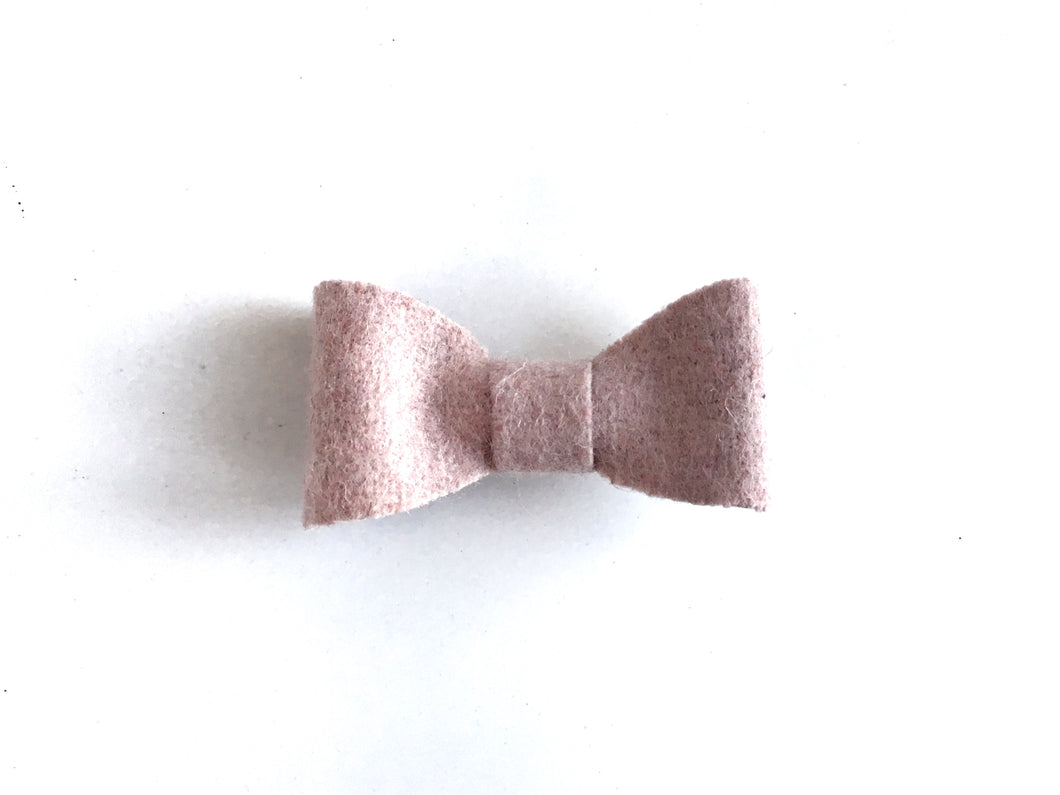 Pink Felt // Mini Bow - Knots and Dots
