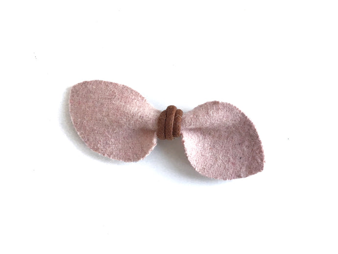 Pink Felt // Petal Bow - Knots and Dots
