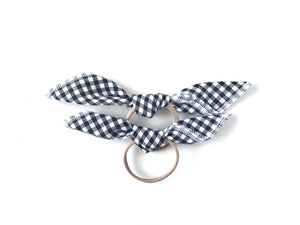 Handkerchief Tie // Black Gingham - Knots and Dots