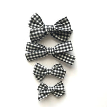 Load image into Gallery viewer, School Girl Bow // Black Gingham - Knots and Dots