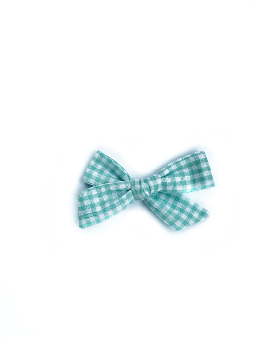 Mini Knot // Green Gingham - Knots and Dots