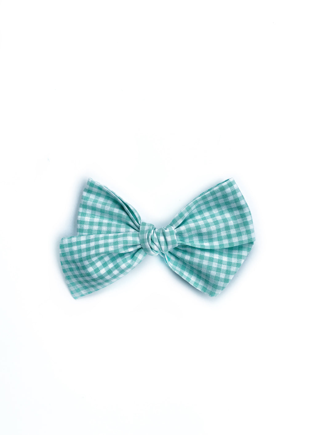 Chunky Knot // Green Gingham - Knots and Dots