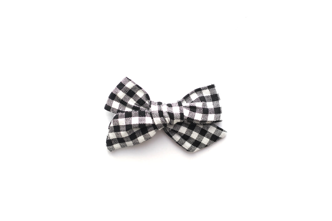 Mini Knot // Black Gingham - Knots and Dots