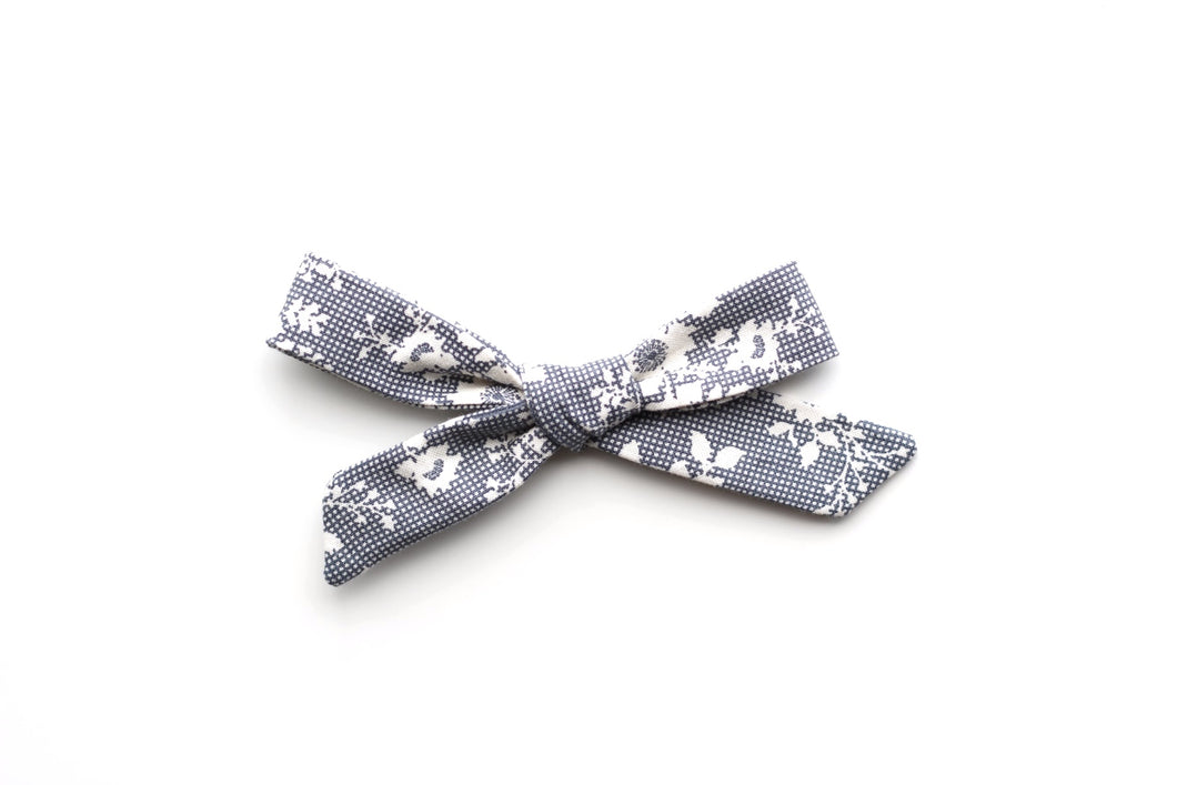 School Girl Bow // Vintage Slate - Knots and Dots