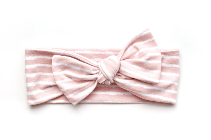 Top Knot Bow (ekologiskt) // Dusty Pink - Knots and Dots