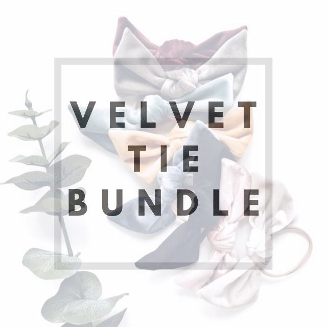 Velvet Tie Bundle - Knots and Dots