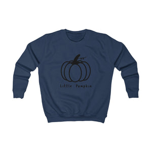 Kids Pumpkin Sweatshirt (black)