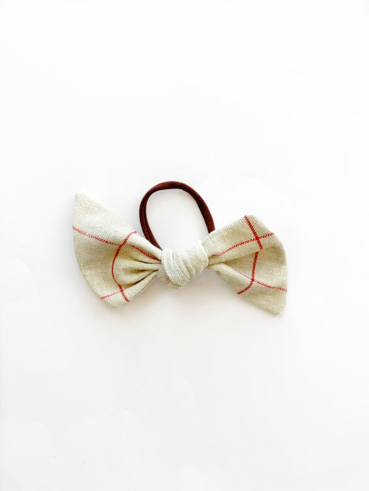 Hair Tie // Red Check