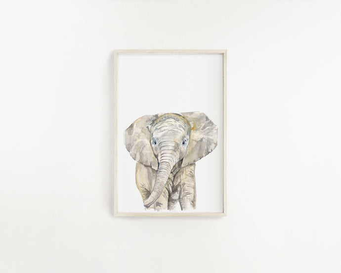 Elephant Watercolour Print - Knots and Dots