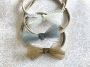 Tulle Bow // Mini - Knots and Dots