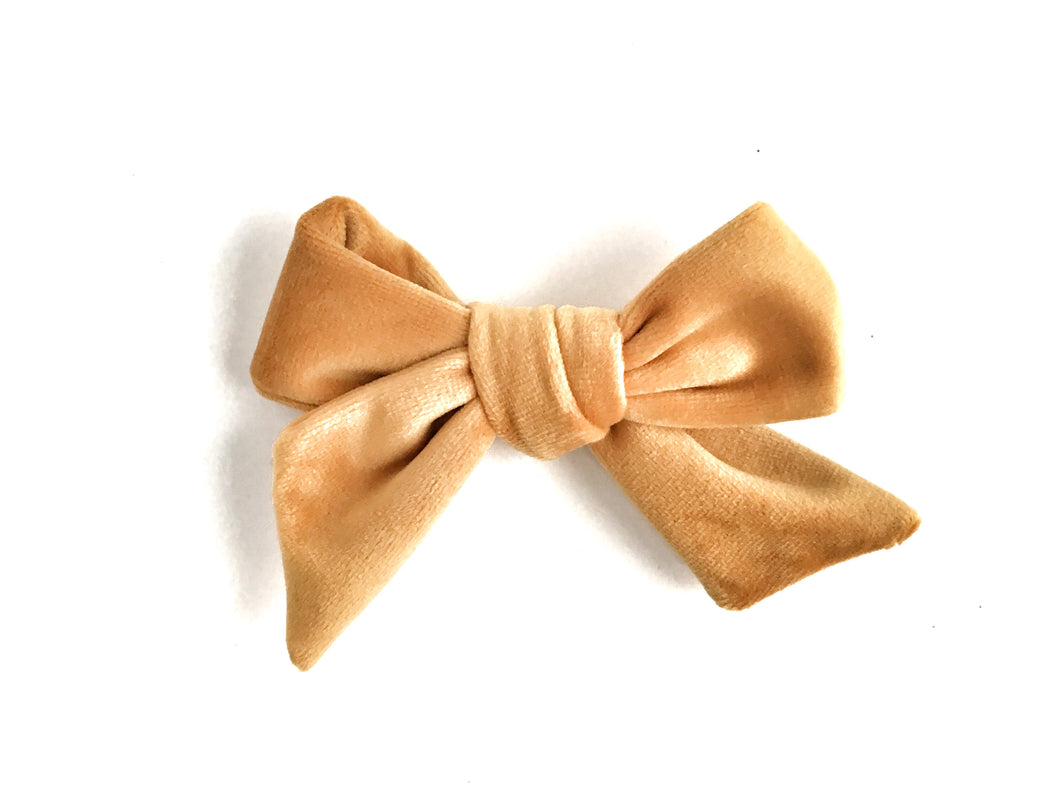 Velvet Bow // Mustard Yellow - Knots and Dots