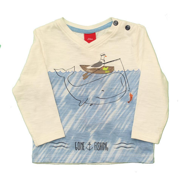 S. OLIVER Baby Boy Nautical Long Sleeve T-Shirt