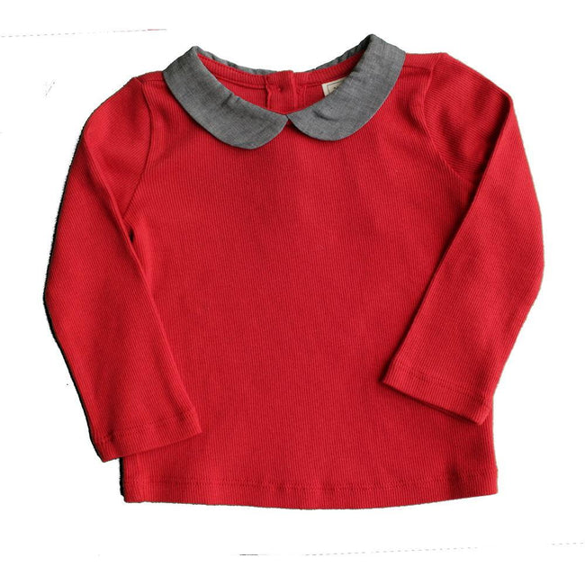 Baby Girl Red Long Sleeve Top (12-18M)