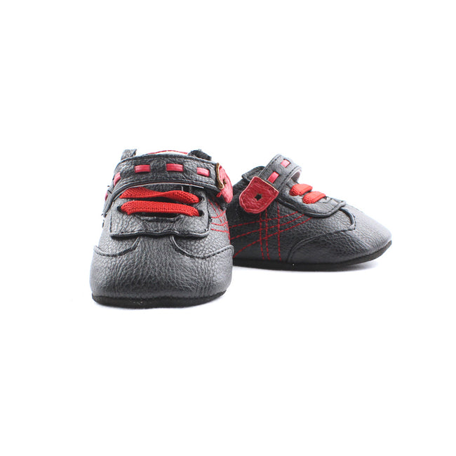 Jack & Lily Boys Moccasin Shoes Red Black