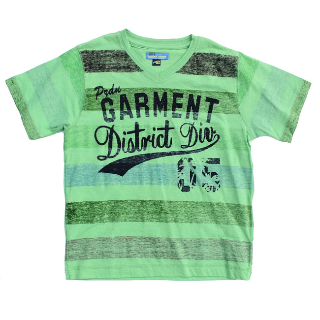 Little Boy Green Short Sleeve Graphic Tee