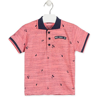 Losan Little Boys Pink Short Sleeve Polo Shirt