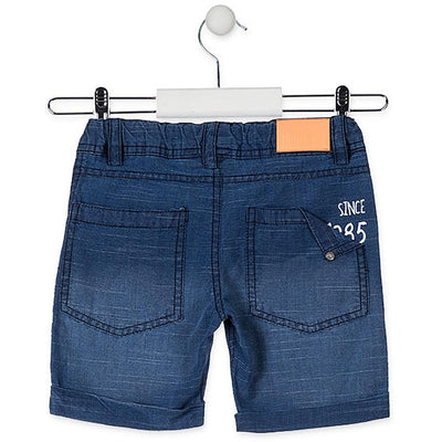 Losan Little Boy Blue Cotton Shorts Printed Motif
