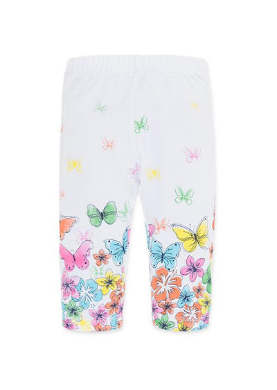 Losan Little Girl Leggings Flowers and Butterflies Print