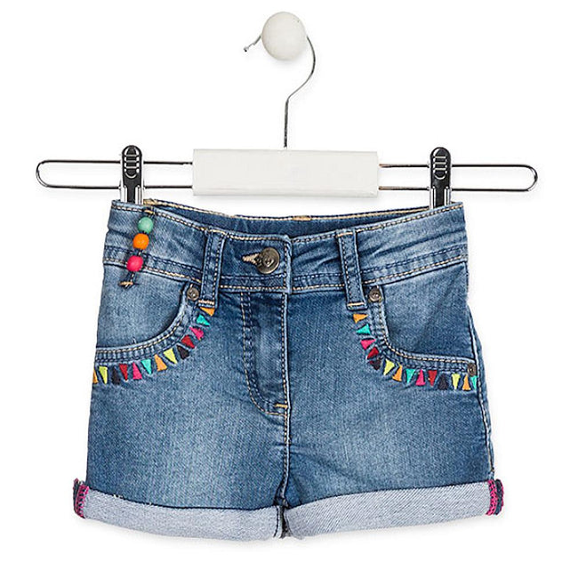 Losan Little Girl Denim Shorts Beads Tassle