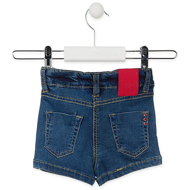 Losan Little Girl Shorts Denim Cherry Sequin Pocket