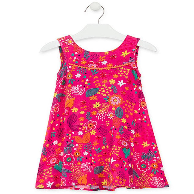 Losan Little Girls Summer Floral Print Dress