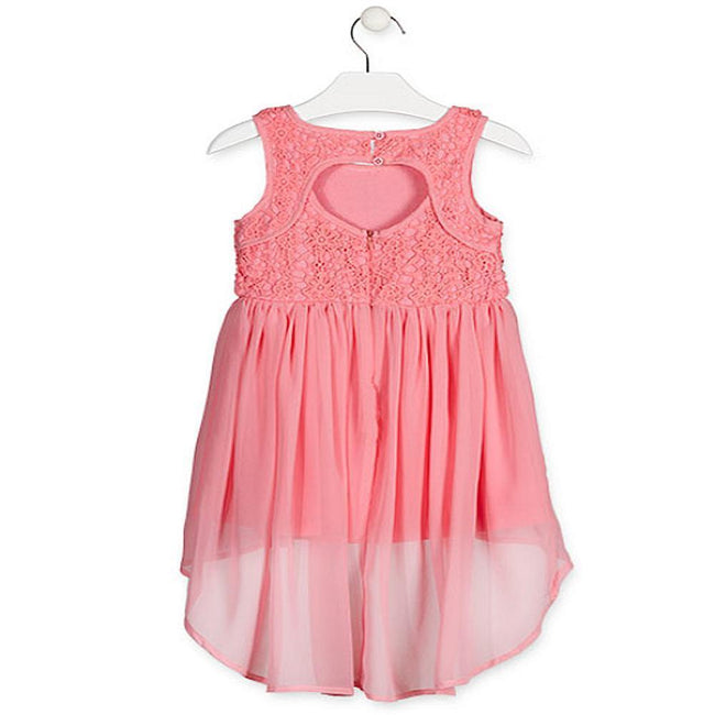 Losan Little Girl Sleeveless Dress Crochet Top