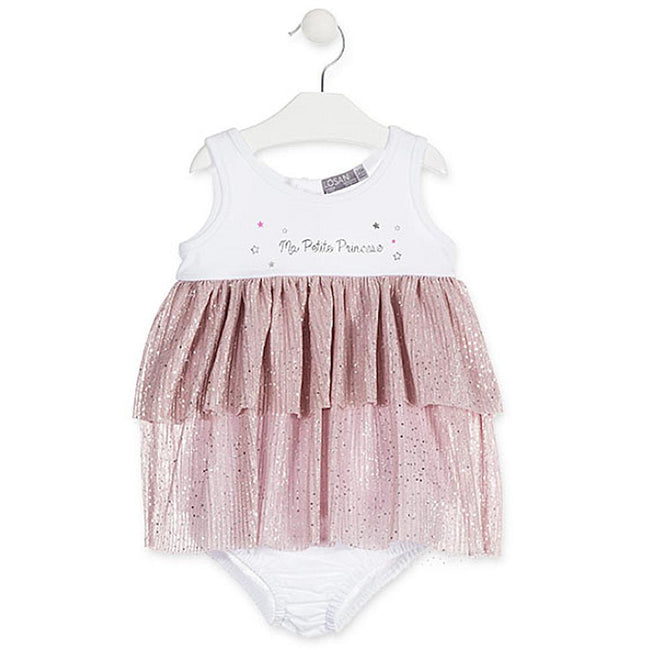 LOSAN Baby Girl Ruffled Tulle Dress