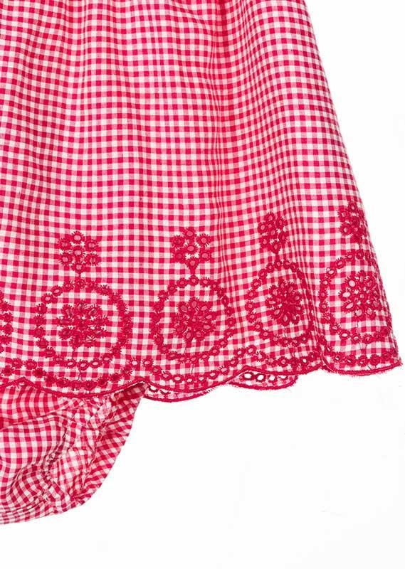 Losan Infant Baby Girl Red Checkered Lined Dress and Knickers