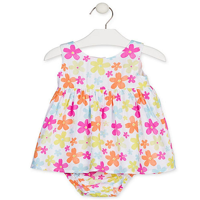 Losan Baby Girls Summer Floral Dress and Knickers