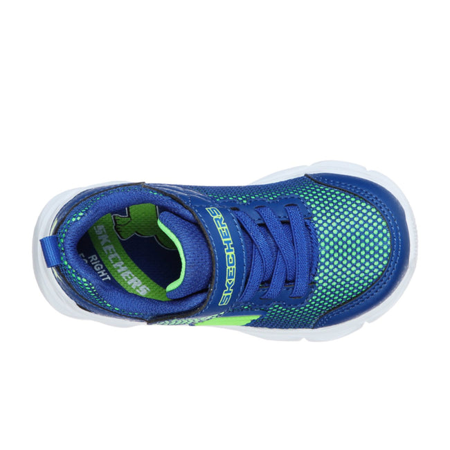 Skechers Boys Intergrid Sport Shoe Blue Lime Green