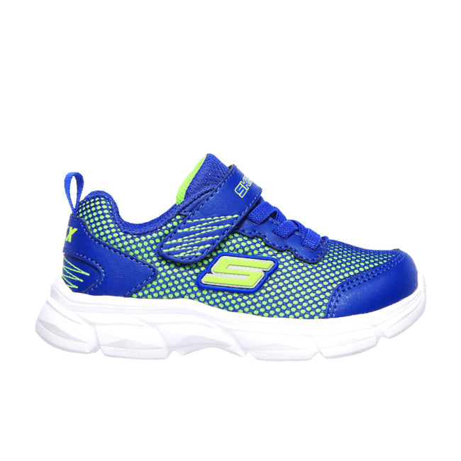 Skechers Boys Blue Lime Green Sport Shoe