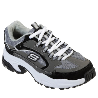 Skechers Boys Athletic Trainer Black Grey