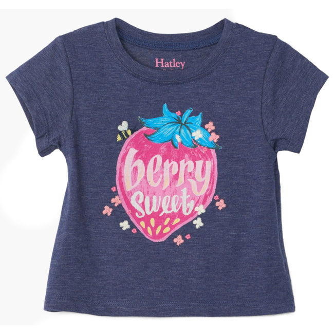 Hatley Baby Girl Berry Sweet Tee Front